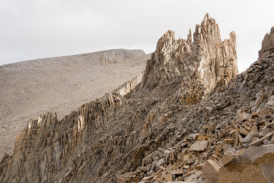 The sub-peaks of Whitney in the foreground and Whitney itself the far peak