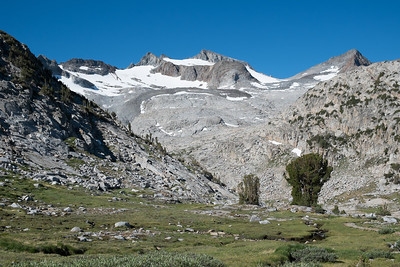 This Lyell Glacier feeds the Tuolumne River and is what keeps it flowing all summer