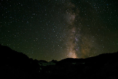 Stars and the Milky Way over Lyell Glacier