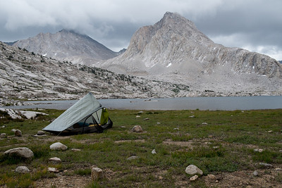 Camping on Sapphire Lake before Muir Pass