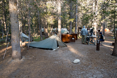 Our Tuolumne Meadows campsite (in the backpacker's area of the campground)