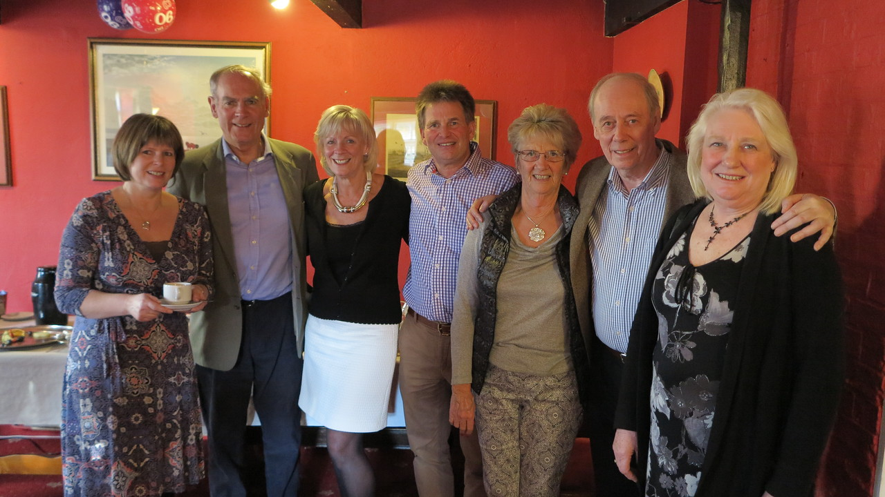 Diane, Ian, Angela, Michael, Pat, Geoff and Pam