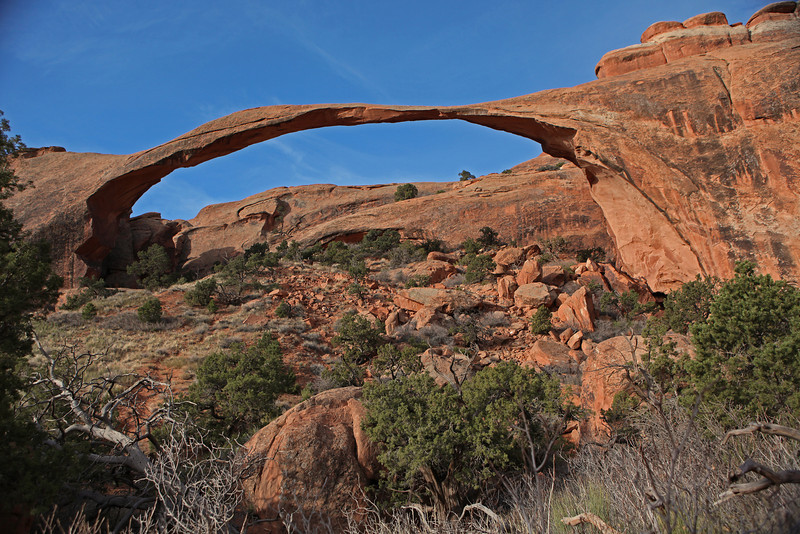 Landscape Arch in Arches National Park.