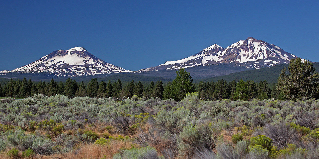 The Three Sisters Mountains, Sisters, Oregon.