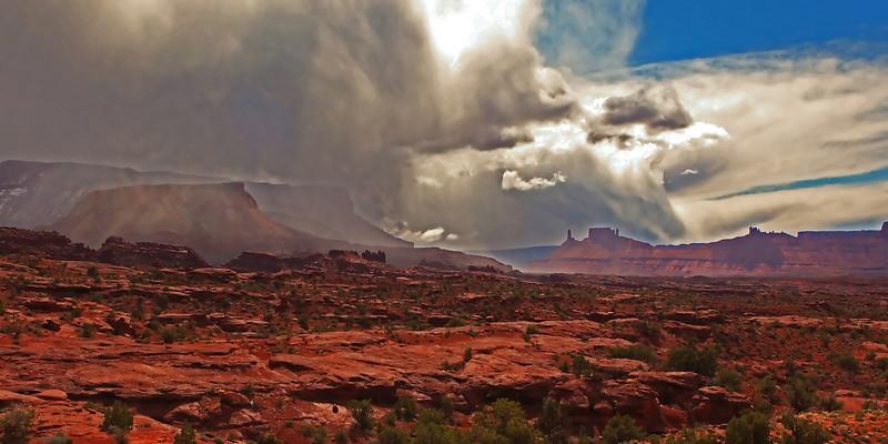 Thunder storm near Moab, Utah.
