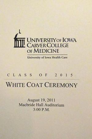 CCOM White Coat Ceremony 2011