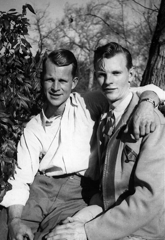 Neil and Glen Johnson - I love Uncle Glen's jacket!