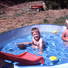 Chris and Matt in the pool.