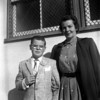 Marc Cole and Lois Ruth McChesney.  January 1957.  Marc's graduation from Manhattan Elementary School in Los Angeles