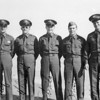 Donald E. Johnson and classmates upon graduation at Galvenston TX. 1942 (?) He is on the far left.