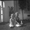 Marc and Mike McChesney ~1947. The family moved to 10505 South St. Andrews Place in Los Angeles.  It meant that our dad had about an hour commute to work, but about 15 minutes to the ponnies!