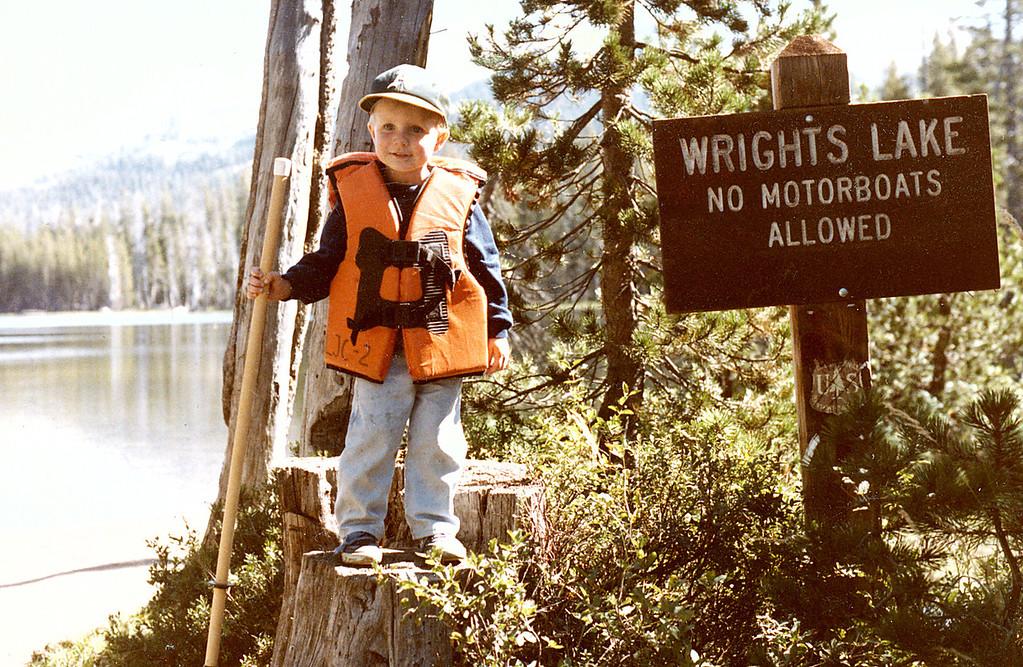 Matthew Manson camping at Wrights Lake