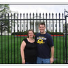 "Chris and Melissa in front of the White House. This was their ""vacation"" prior to the arrival of their daughter."