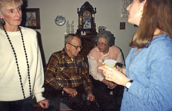 Pauline Hauser, Neal and Peggy Johnson, and Becky Bland