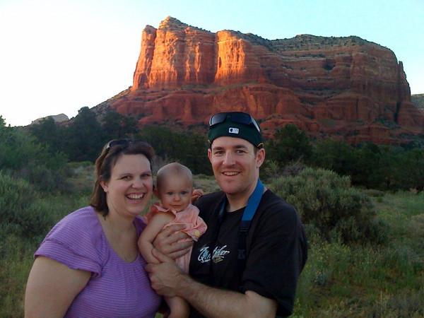 Elizabeth Ann with Chris and Melissa at Sedona AZ