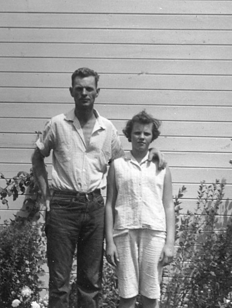 Susan and Glen Johnson 915 Link Lane about 1958