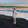 Kaimu black sand beach, Big Island