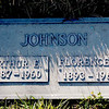 The grave of Florence N and Arthur E. Johnson, located at Santa Rosa Memorial Park in Santa Rosa, CA