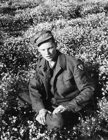 Glen A. Johnson in England during WWII.