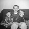 Marc McChesney with his niece, Brigette M. Oesterle and nephew Paul E. Oesterle, 1958.