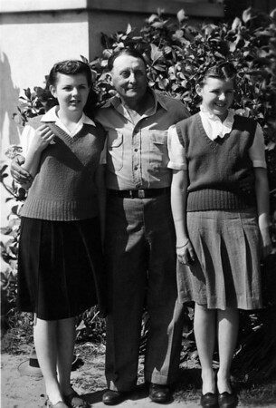 Barbarba Cole and Coleen Cole with Earle Morrill.  Barbara and Coleen are daughters of Arivd Cole