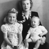 Ruth Johnson McChesney, Martha Manson and Michael Manson McChesney, taken in Oxnard CA ~ December 1942. This was shortly before the family moved to  Los Angeles.