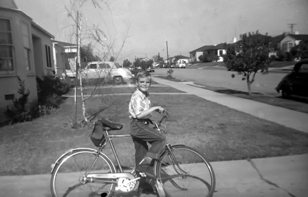 Marc and his new bike, Christmas 1953 (?)This was taken at the house on St Andrews in Los Angeles.