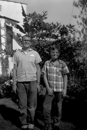 Mike and Marc in the summer of 1956