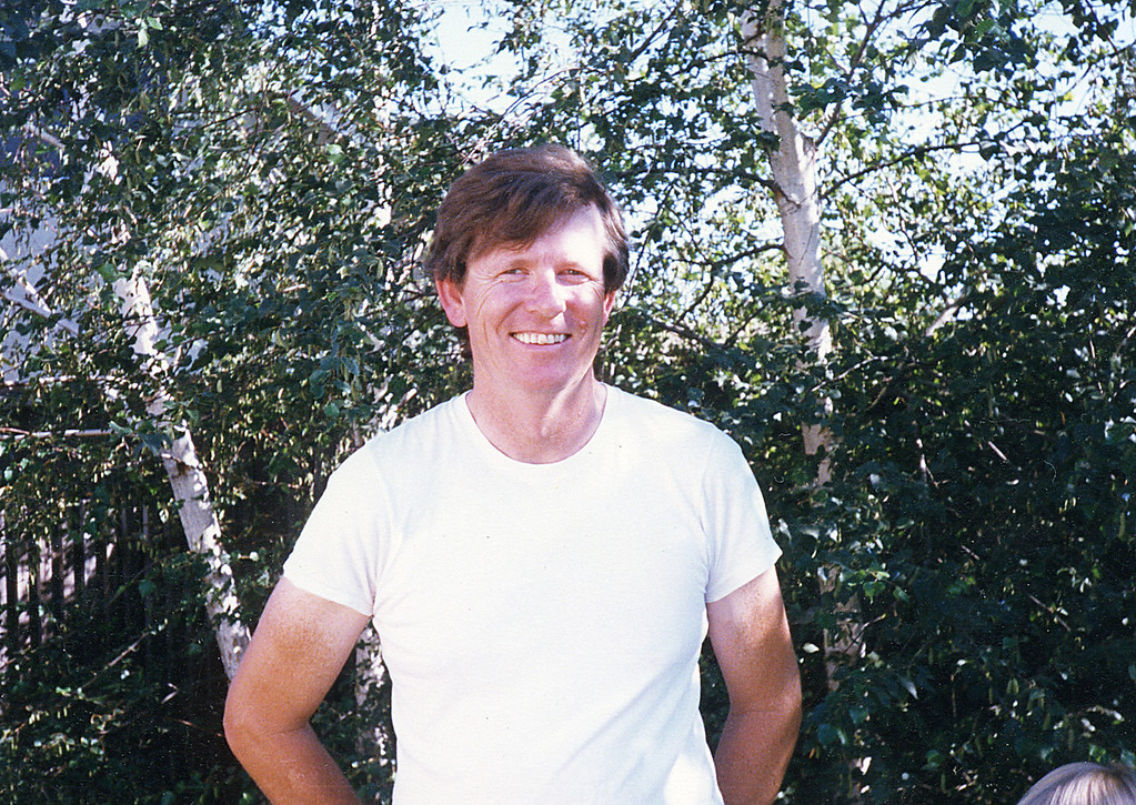 Michael M. McChesney about 1987 at the Concord Place house in Davis, CA
