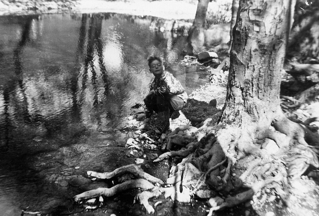 Marc McChesney about 1950 at the Petrified Forest near Santa Rosa.