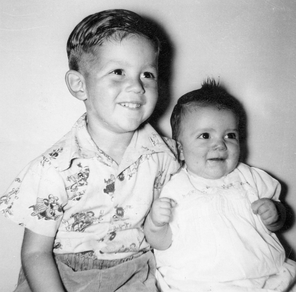 Martin and Karen Johnson, parents are Wayne Neil and Mary Peggy Johnson.  About 1951.