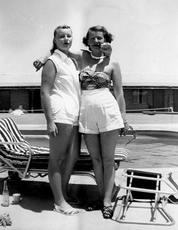 Mother and daughter: Martha and Ruth McChesney, 1954 Las Vegas