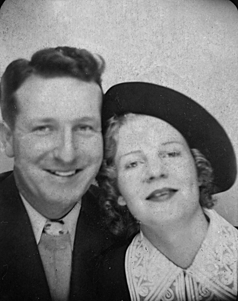 Wedding picture:  Homer and Ruth McChesney September 3rd 1935, Carson City NV.