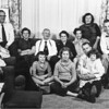 Wonderful photo:from the left sitting: Forest (Uncle Babe) Hauser, Arvid Cole, Eleanor Hauser, Arthur Johnson, Florence Johnson, Margrit (Aunt Peggy) Johnson, Ruth (aunt Ruthie) Johnson, Glen Johnson.  On the floor: Susan Johnson, Linda Hauser and Uncle Neil with Karen Johnson