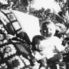 Martha M. McChesney at Grandma and Grandpa Johnson's house in Santa Maria.