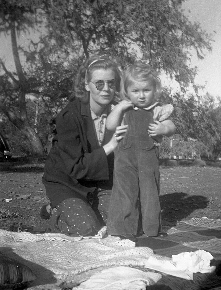 Martha and Ruth McChesney, guessing that it is 1939 in Carpentria, CA
