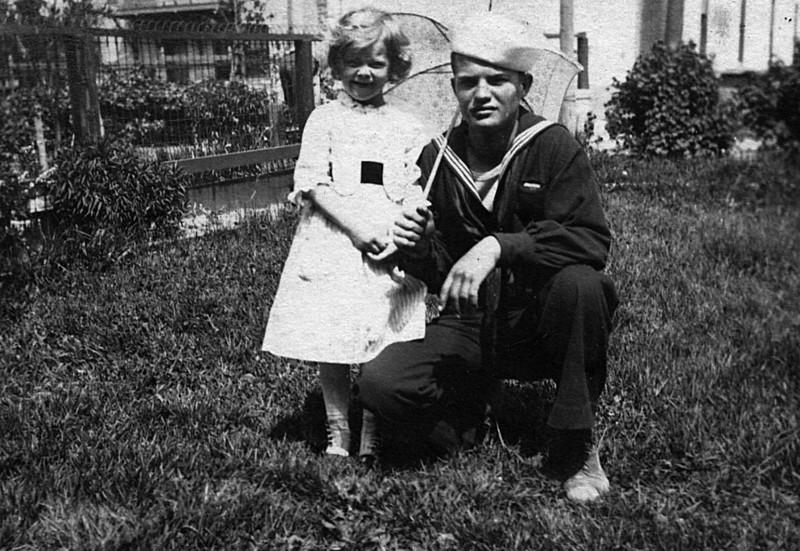 Eleanor Johnson with Uncle Ferd Cole