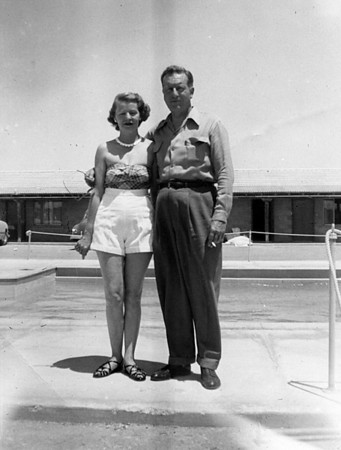 Homer and Ruth McChesney.  Summer of 1954, a vacation trip to Las Vagas with Marth.