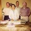 Gandma Johnson with her three sons: Wayne Neil, Geln Allan, Donald Eric on her birthday, March 1966.