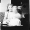 Marc's 2nd birthday.  Only known picture of Martha, Marc and Michael McChesney together.  March 7, 1947 at the house at St Andrews Place in Los Angeles