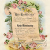 Wedding certificate of Arthur E. Johnson and Flossie N. Cole