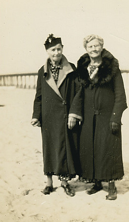 The two Great Grandmothers, Matilda Johnson and Mary Dora Cole. about 1937.