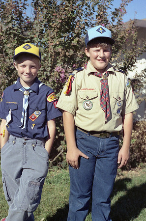 Matthew Manson and Christian Lloyd McChesney ~1991  Cub Scouts.