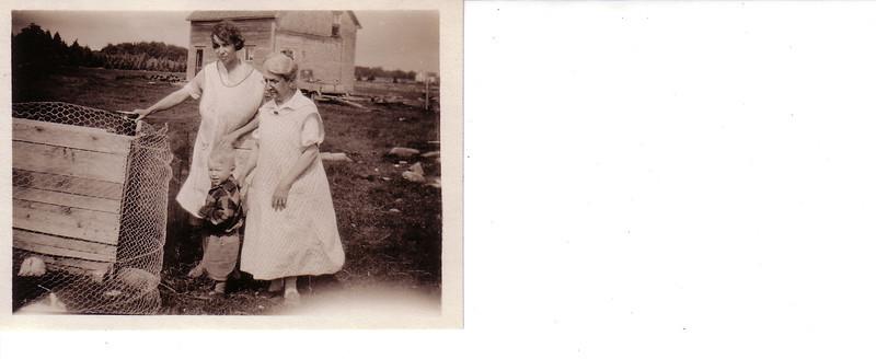 Grandmother Johnston (Bill's mother) and daughter Tina
