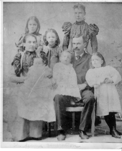 Mary Pye and Alexander Johnston w/children