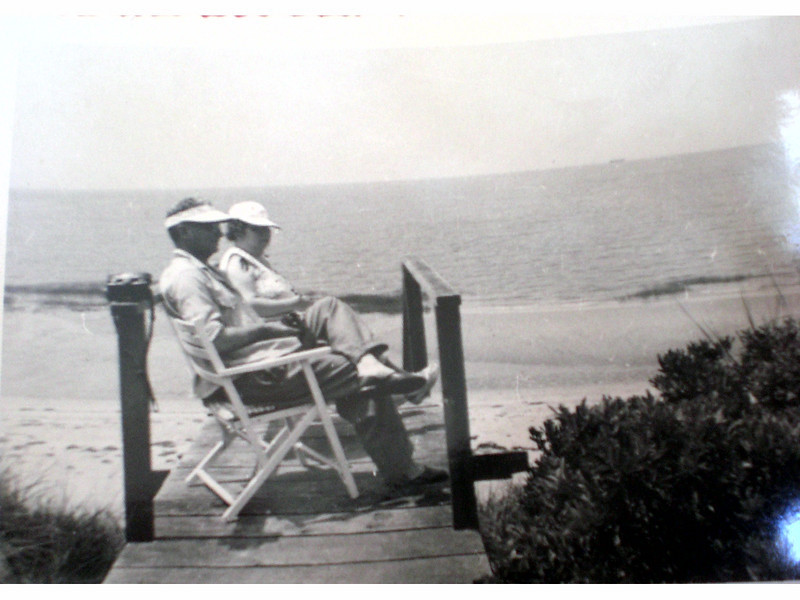 Bill and Gladys Johnston on Cape Cod