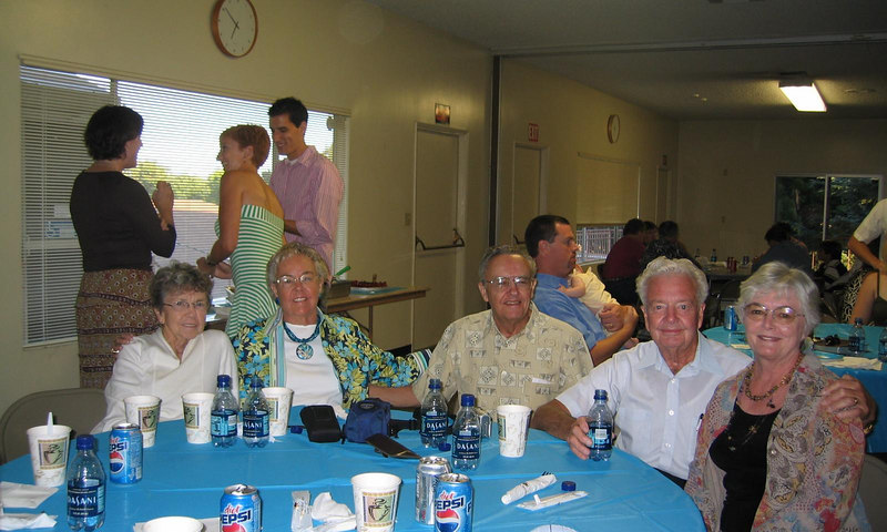 Grandma's siblings: Ime, Grandma, Roy, Lowell (Gene) and Sheila (Roy's wife).