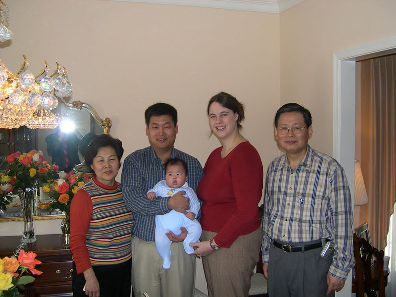 The Kwon family, from the left:  Sandy, Chris, Jonathan, Katie and Peter.