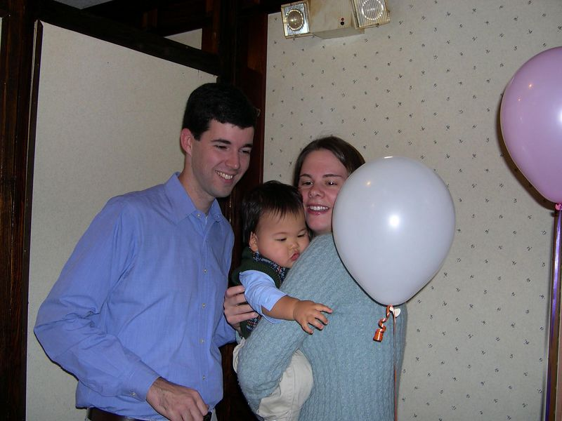 Enough hugs.  Let me have the balloon.