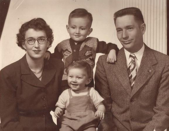 Charlotte, Doug, Norm, Leslie 1951